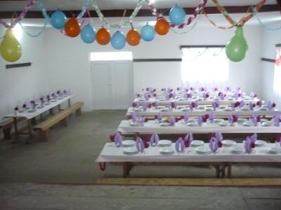 A vendégfogadásra előkészített kultúrotthon