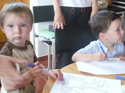 A kisebbek is próbálkoznak (Dávid és Ábel)