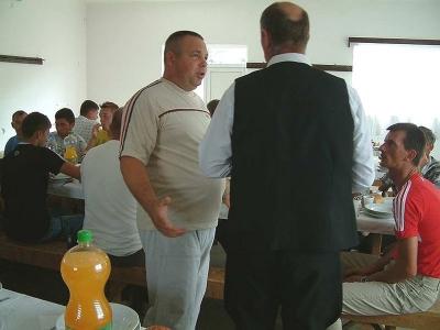 Közös ebéden a presbiterekkel