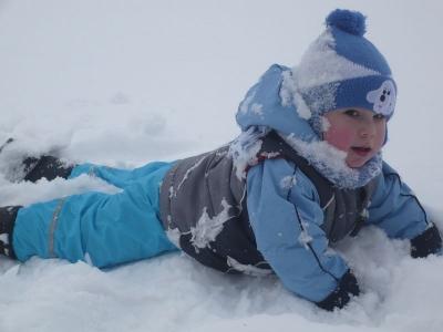 Ádám megadta magát, hóemberke lett :-)