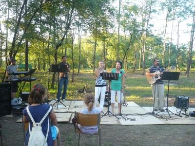Az EGYKOR együttes koncertje zárta a tábort