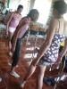 Ügyességi játék lábbal (Henrietta, Renáta és Brigitta)