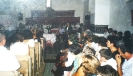 Czira unokatestvérek találkozója (2001)-Juhász Klára lelkipásztor köszönti az egybegyülteket