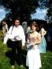 Filep Farkas és Judit harmadik gyermekük keresztelője előtt (2009)