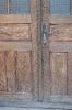 Samuék faragott bejárati ajtója