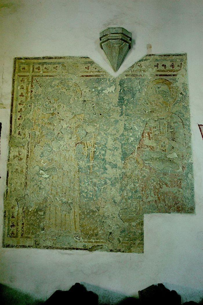 A felújítás során feltárt freskó