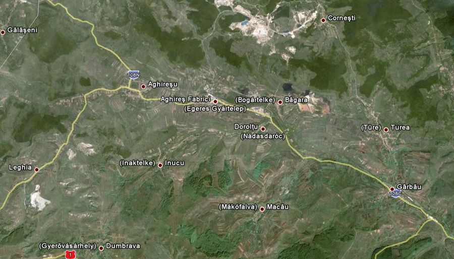Nádasdaróc és a környező települések